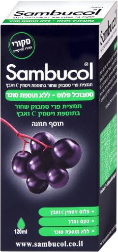 """תמונה של סמבוכל סירופ פלוס ללא תוספת סוכר 120 מ""""ל"""