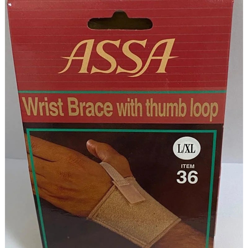 תמונה של חבק יד אגודלי אסא   ASSA Wrist Brace With Thumb Loop