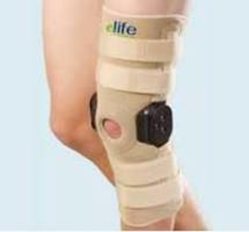 תמונה של מקבע ברך ארוך עם צירים | ELIFE ROM Hinged Knee Support