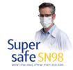 תמונה של מסכות פנים כירורגיות חד פעמיות - FACE MASK SUPERSAFE SN98